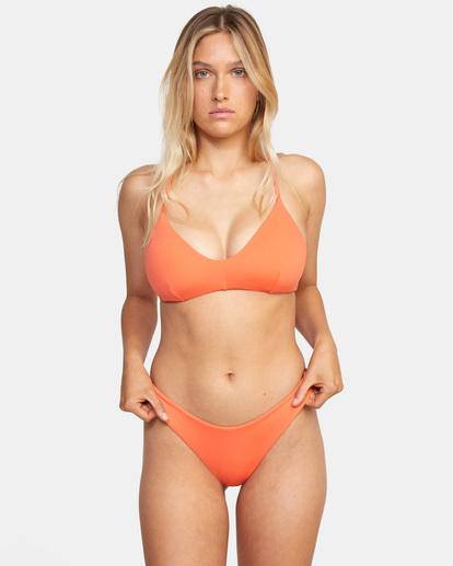0 Solid Cross back Tie D-Cup Bikini Top  AVJX300198 RVCA