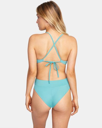 1 Solid Crossback Tie D-Cup Bikini Top Green AVJX300198 RVCA