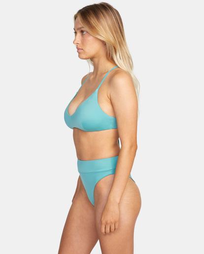 3 Solid Crossback Tie D-Cup Bikini Top Green AVJX300198 RVCA