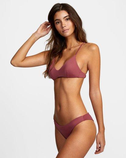3 Solid Crossback Tie D-Cup Bikini Top Purple AVJX300198 RVCA