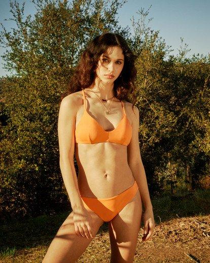 0 Solid Crossback Tie Bikini Top Orange AVJX300199 RVCA