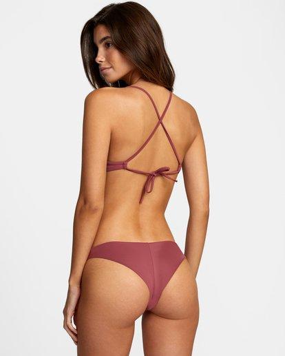 1 Solid Crossback Tie Bikini Top Purple AVJX300199 RVCA