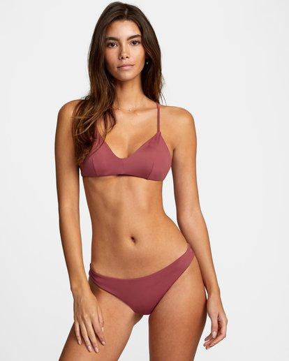 0 Solid Crossback Tie Bikini Top Purple AVJX300199 RVCA