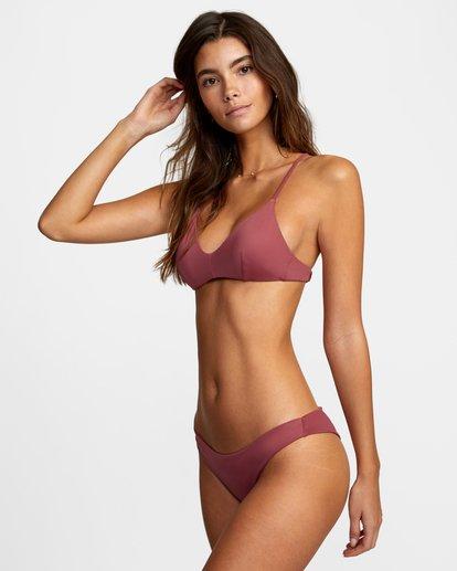 3 Solid Crossback Tie Bikini Top Purple AVJX300199 RVCA