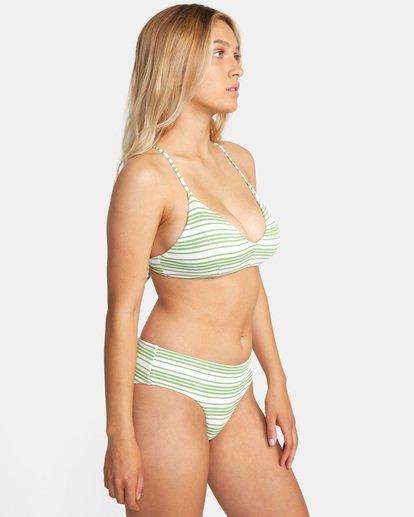 4 Ziggy Printed Crossback Tie D-Cup Bikini Top White AVJX300202 RVCA