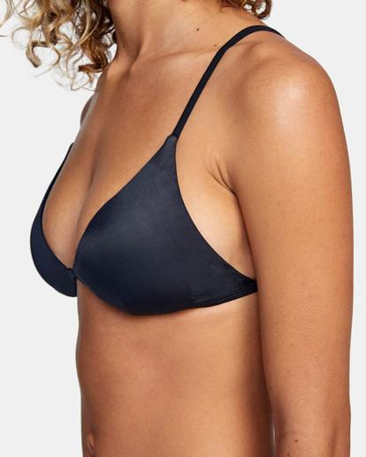 2 Solid Fixed Triangle Bikini Top Black AVJX300207 RVCA