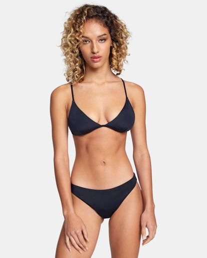 0 Solid Fixed Triangle Bikini Top Black AVJX300207 RVCA