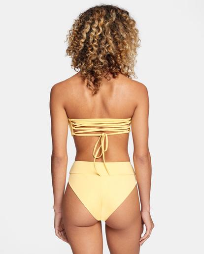 1 Solid Tie-Back Halter Bandeau Bikini Top White AVJX300208 RVCA