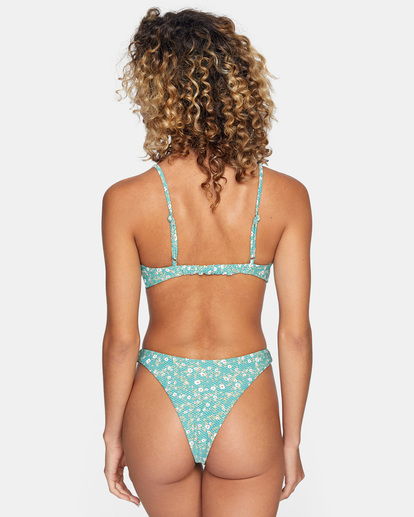 1 Sweet Escape Printed Trilette Bikini Top Green AVJX300212 RVCA
