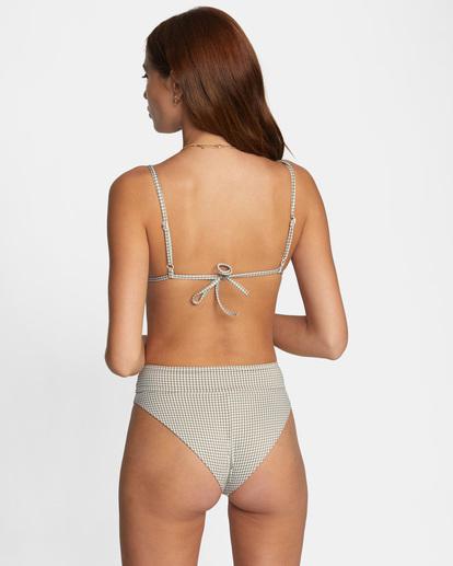 1 Jet Set Printed Tie-Back Triangle Bikini Top White AVJX300219 RVCA