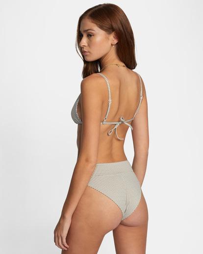 5 Jet Set Printed Tie-Back Triangle Bikini Top White AVJX300219 RVCA