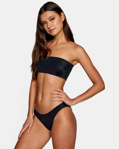 6 Flow Check Reversible Bandeau Bikini Top White AVJX300220 RVCA