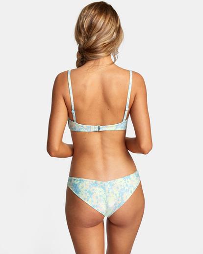 3 Field Of Dreams Printed Bandeau Slider Strap Bikini Top Red AVJX300223 RVCA