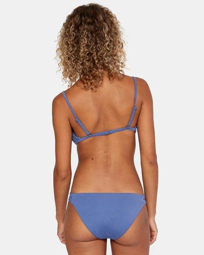 0 Solid Low-Rise Full Coverage Bikini Bottom Blue AVJX400118 RVCA