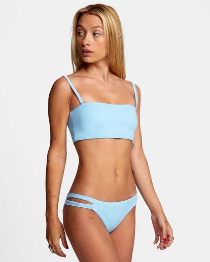 4 Solid Low-Rise Full Coverage Bikini Bottom Black AVJX400118 RVCA