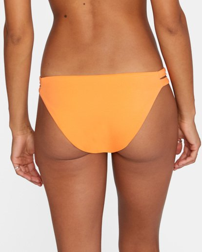 5 Solid Low-Rise Full Coverage Bikini Bottom Orange AVJX400118 RVCA