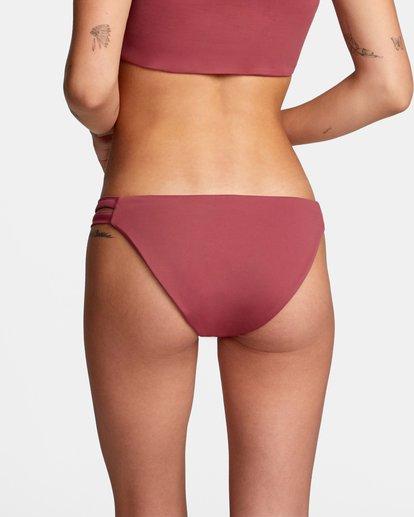 4 Solid Low-Rise Full Coverage Bikini Bottom Purple AVJX400118 RVCA