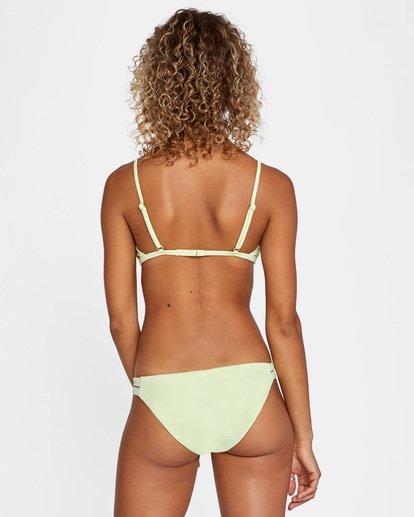0 Solid Low-Rise Full Coverage Bikini Bottom Green AVJX400118 RVCA
