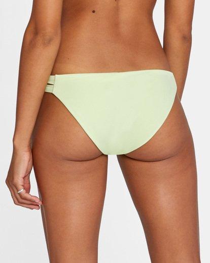 4 Solid Low-Rise Full Coverage Bikini Bottom Green AVJX400118 RVCA