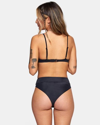 0 Solid High-Rise Cheeky Bikini Bottom Black AVJX400121 RVCA
