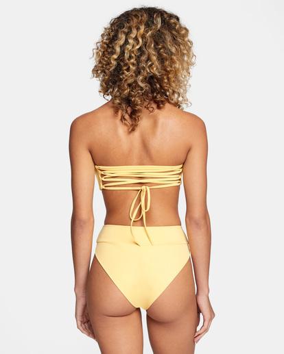 0 Solid High-Rise Cheeky Bikini Bottom White AVJX400121 RVCA