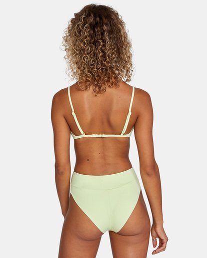 0 Solid High-Rise Cheeky Bikini Bottom Green AVJX400121 RVCA
