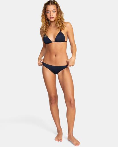 3 Solid Low-Rise Medium Coverage Bikini Bottom Black AVJX400130 RVCA