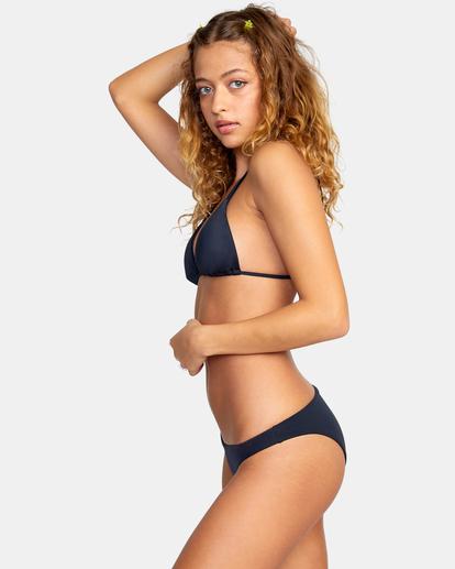 4 Solid Low-Rise Medium Coverage Bikini Bottom Black AVJX400130 RVCA