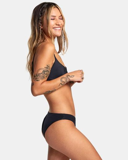5 Solid Low-Rise Medium Coverage Bikini Bottom Black AVJX400130 RVCA