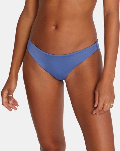 5 Solid Low-Rise Medium Coverage Bikini Bottom Blue AVJX400130 RVCA