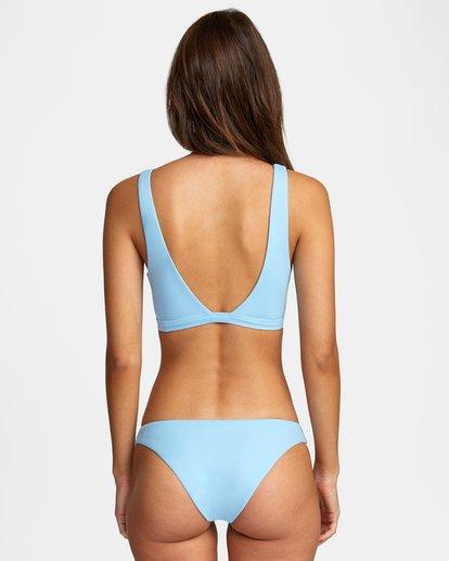 0 Solid Low-Rise Medium Coverage Bikini Bottom Black AVJX400130 RVCA