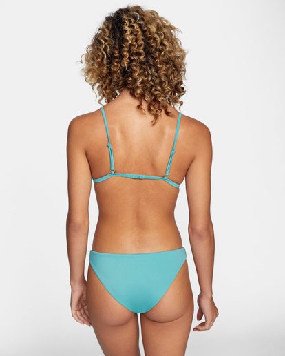 0 Solid Low-Rise Medium Coverage Bikini Bottom Green AVJX400130 RVCA