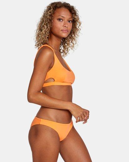 3 Solid Low-Rise Medium Coverage Bikini Bottom Orange AVJX400130 RVCA