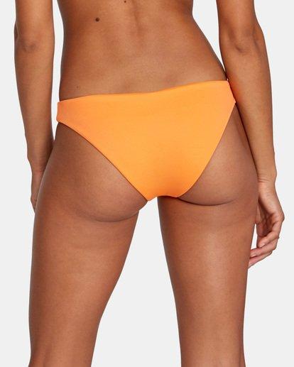 5 Solid Low-Rise Medium Coverage Bikini Bottom Orange AVJX400130 RVCA