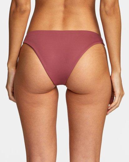 4 Solid Low-Rise Medium Coverage Bikini Bottom Purple AVJX400130 RVCA