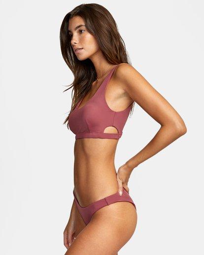 3 Solid Low-Rise Medium Coverage Bikini Bottom Purple AVJX400130 RVCA
