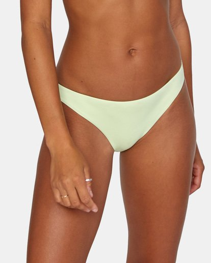 5 Solid Low-Rise Medium Coverage Bikini Bottom Green AVJX400130 RVCA