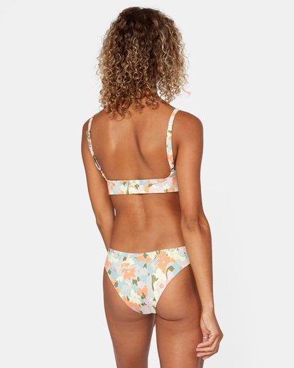 0 On The Road Printed Low-Rise Medium Coverage Bikini Bottom Brown AVJX400160 RVCA