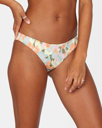 4 On The Road Printed Low-Rise Medium Coverage Bikini Bottom Brown AVJX400160 RVCA