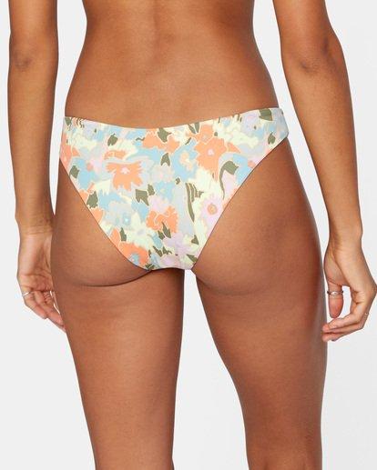 5 On The Road Printed Low-Rise Medium Coverage Bikini Bottom Brown AVJX400160 RVCA