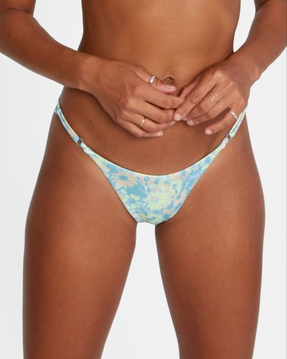 6 Fields Of Dreams Printed Mid-Rise French Bikini Bottom Red AVJX400162 RVCA