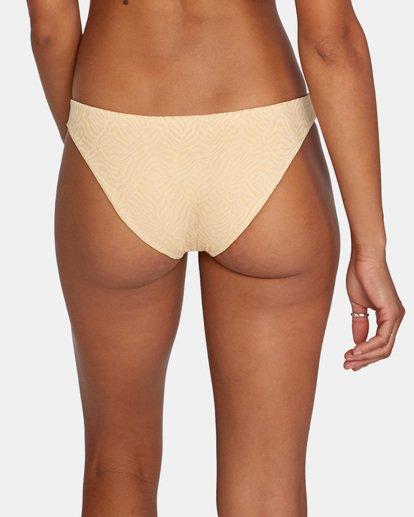 5 Run Wild Printed Low-Rise Medium Coverage Bikini Bottom Red AVJX400167 RVCA