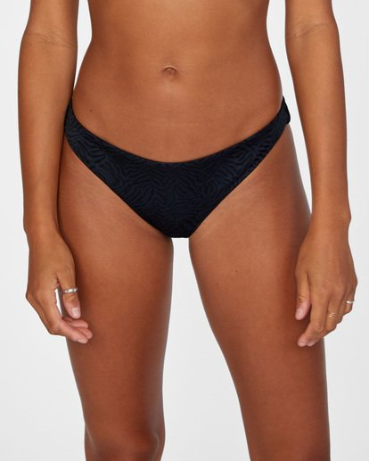 4 Run Wild Printed Low-Rise Medium Coverage Bikini Bottom White AVJX400167 RVCA