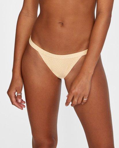 4 Run Wild Printed Low-Rise Cheeky Bikini Bottom Red AVJX400168 RVCA