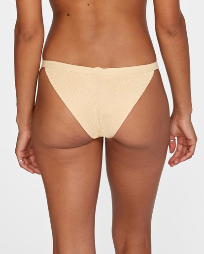 5 Run Wild Printed Low-Rise Cheeky Bikini Bottom Red AVJX400168 RVCA