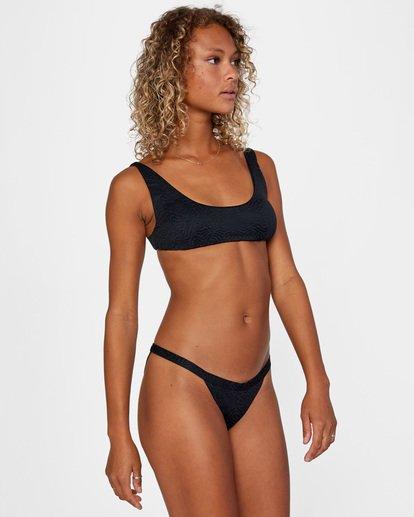 3 Run Wild Printed Low-Rise Cheeky Bikini Bottom White AVJX400168 RVCA
