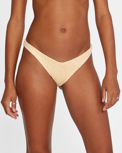 4 Run Wild Printed Mid-Rise French Bikini Bottom Red AVJX400169 RVCA