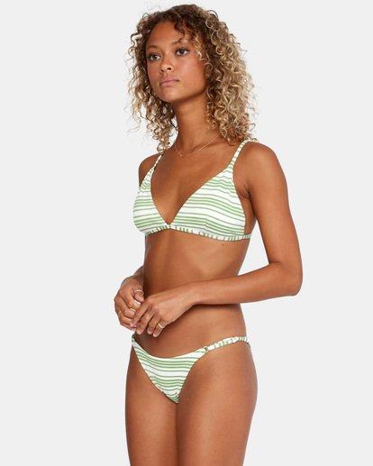 3 Ziggy Textured Mid-Rise French Bikini Bottom White AVJX400170 RVCA