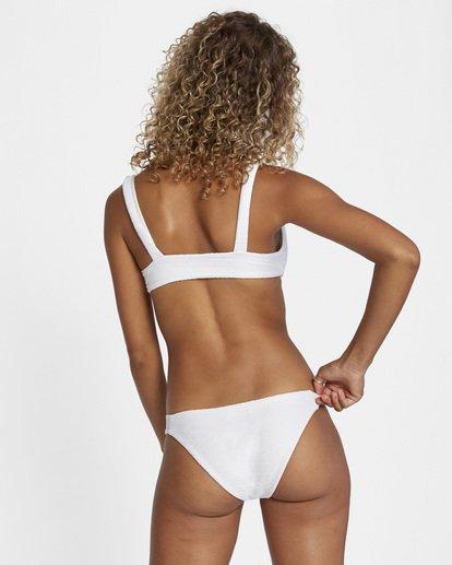 0 La Jolla Textured Low-Rise Medium Coverage Bikini Bottom White AVJX400173 RVCA