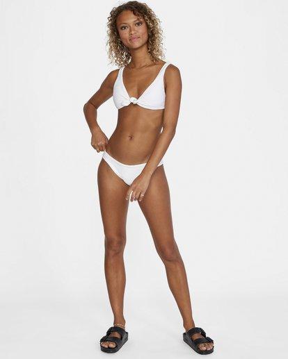 2 La Jolla Textured Low-Rise Medium Coverage Bikini Bottom White AVJX400173 RVCA